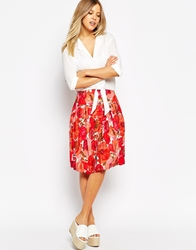 Emily And Fin Emily And Fin Amelia Full Printed Skirt 923Red