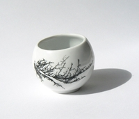 Espresso Cup Windy Cup Porcelain Coffee Cup By Kinaceramicdesign