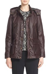 Women's Belstaff 'Tourmaster' Hooded Waxed Cotton Jacket