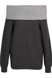 Maiyet Off The Shoulder Cashmere Blend Sweater Dark Gray
