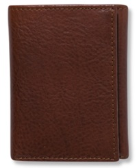 Tasso Elba Dakota Italian Leather Trifold Wallet Tan