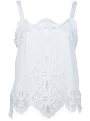 Chloe Lace Insert Cami Top White