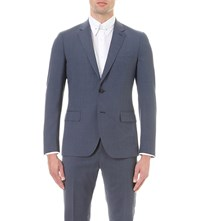 Reiss George B Slim Fit Wool Blend Blazer Airforce Blue