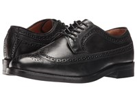 Polo Ralph Lauren Moseley Black Burnished Leather Men's Lace Up Wing Tip Shoes