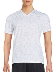 Calvin Klein Geo Print Athletic Top White