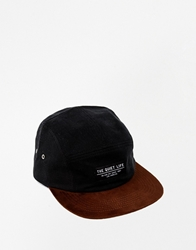 The Quiet Life Cord 5 Panel Cap Black