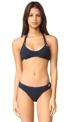 Stella Mccartney Crochet Bikini Set Navy