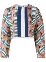 Tata Naka Printed Cropped Blouse Multicolour