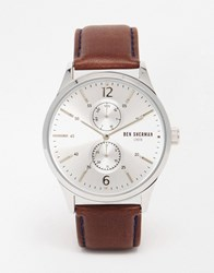 Ben Sherman Spitalfields Vinyl Leather Watch In Brown Brown