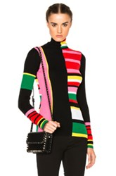 Kenzo Color Block Stripe Sweater In Pink Stripes Geometric Print Pink Stripes Geometric Print