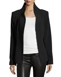 Brandon Maxwell Stand Collar Suit Jacket Black