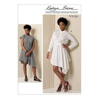 Vogue Misses' Women's Stand Up Collar Dress Sewing Pattern 9186