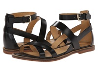 Enzo Angiolini Jeat Black Leather Women's Sandals
