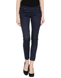 Baci And Abbracci Casual Pants Dark Blue