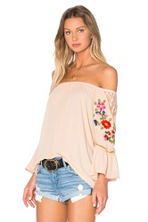 Vava By Joy Han Kacie Off Shoulder Top Tan