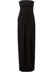 Dsquared2 Draped Evening Gown Black