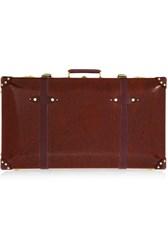 Globe Trotter Orient 30 Leather Trimmed Lacquered Fiberboard Suitcase Burgundy