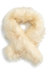 Sole Society Women's Faux Fur Stole Ivory