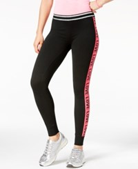 Material Girl Active Juniors' Graphic Leggings Black