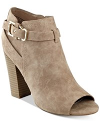 G By Guess Julep Peep Toe Booties Women's Shoes Natural