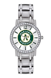 Game Time Watches 'Mlb All Star' Crystal Bezel Bracelet Watch 32Mm Oakland A's