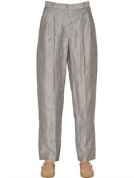 Emporio Armani Pleated Linen Crepon Pants