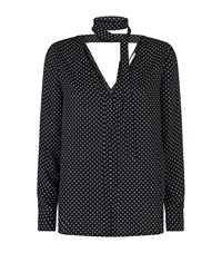 Rebecca Minkoff Tie Neck Polka Dot Top Female Black