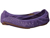 Hush Puppies Lolly Chaste Purple Suede Women's Flat Shoes