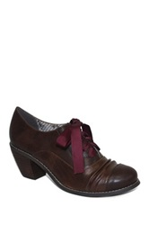 Restricted Whisper Ribbon Tie Bootie Brown