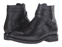Frye Stone Cross Strap Black Smooth Pull Up Men's Pull On Boots