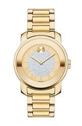 Movado 'Bold' Crystal Dial Bracelet Watch 32Mm Gold