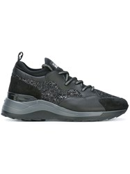Hogan Rebel Glitter Effect Sneakers Black