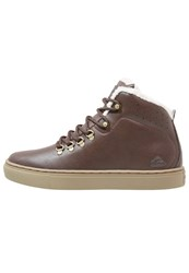 Quiksilver Jax Deluxe Hightop Trainers Brown Dark Brown