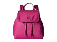 Tory Burch Scout Nylon Small Backpack Hibiscus Flower Backpack Bags Pink
