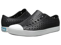 Native Jefferson Jiffy Black Shell White Shoes