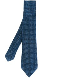Kiton Patterned Tie Blue