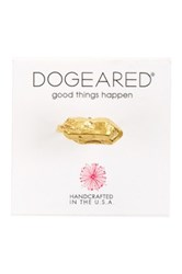 Dogeared 14K Gold Plated Sterling Silver Nugget Ring Size 6 Metallic