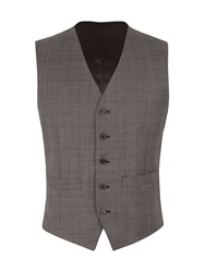 Racing Green Tailored Fit Waistcoat Charcoal