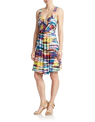 Spense Watercolor A Line Dress Watercolor Multi