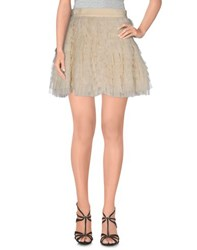 Dandg Skirts Mini Skirts Women Ivory
