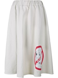 Awake No Smoking Zebra Skirt White