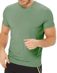 Mpg Striped Performance Tee Eco Green