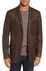 Flynt Men's Distressed Leather Sport Coat