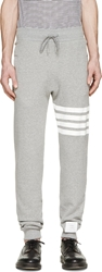 Thom Browne Grey Striped Classic Lounge Pants