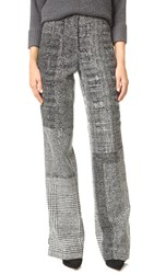 Jason Wu Menswear Jacquard Patchwork Pants Black Chalk