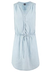 Gap Denim Dress Bleached Indigo Light Blue