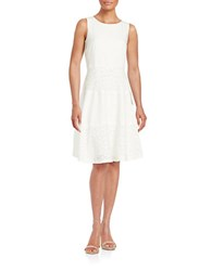 Nipon Boutique Lace Paneled Fit And Flare Dress Vanilla Ice