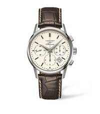 Longines Heritage Column Wheel Chronograph Watch Unisex White