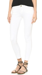 Frame Le Color Cropped Skinny Jeans Blanc