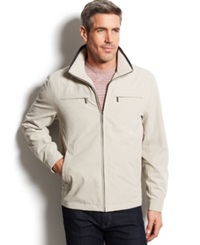 London Fog Litchfield Microfiber Hipster Jacket Cement